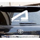"""Наклейка """"AcademeG logo"""" на стекло автомобиля (большая)"""