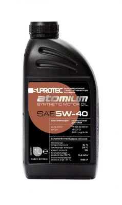 Синтетическое моторное масло 5W 40 Супротек/Атомиум, 1 литр